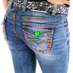 Damen Jeans mit bunten Nähten von Cipo & Baxx im Straight