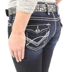 Jeans mit dicker naht fur damen